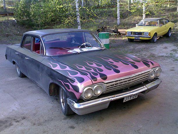 LIEKEISSÄ Chevrolet Bel Air 1962