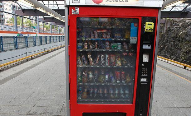 Helsingissä yleinen Selectan automaatti.