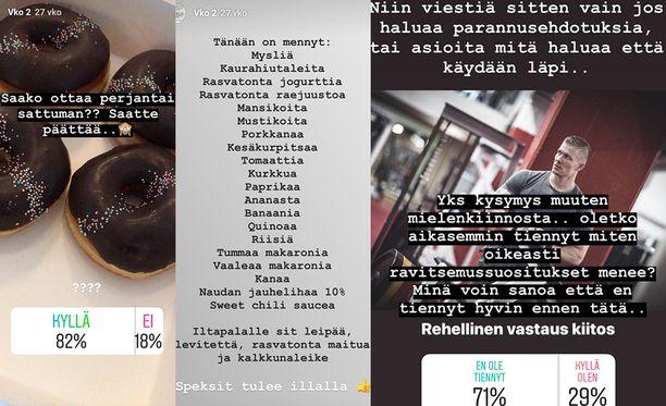 Matias Koistisen projektia pystyi seuraamaan Instagramin stories-osiossa. Seuraajat pääsivät myös osallistumaan projektiin esimerkiksi äänestyksillä.