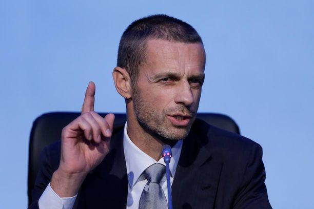 Ceferin on vannonut taistelevansa suurseurojen haluamaan suljettua eliittiliigaa vastaan.