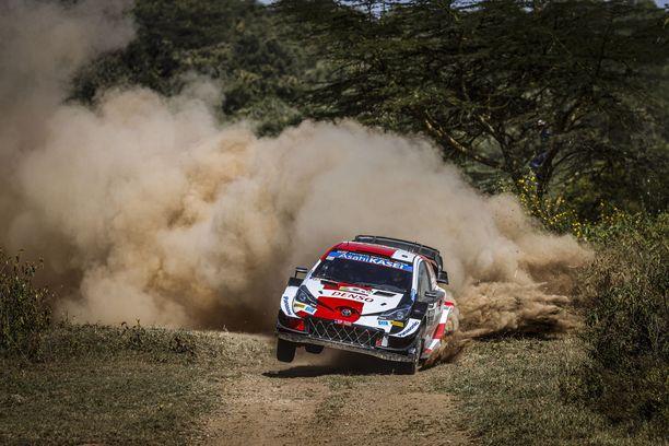 Kalle Rovanperä piti hyvää vauhtia Kenian teillä ennen keskeytystään.