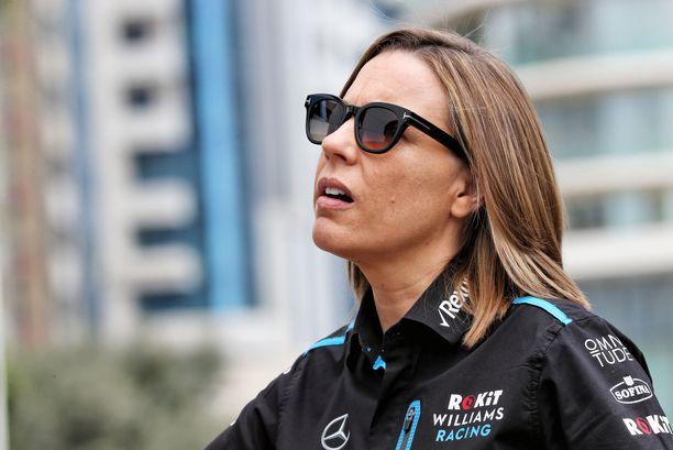 Claire Williams kävi kuumana Bakun F1-varikolla.