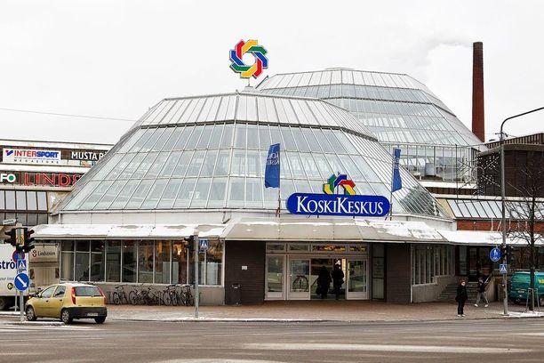 Kauppakeskus Koskikeskus sijaitsee Tampereen keskustassa.