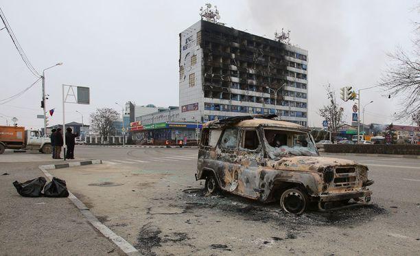 Tšetšeniassa sijaitsevaan Groznyin kaupunkiin tehtiin terrori-isku joulukuussa 2014.