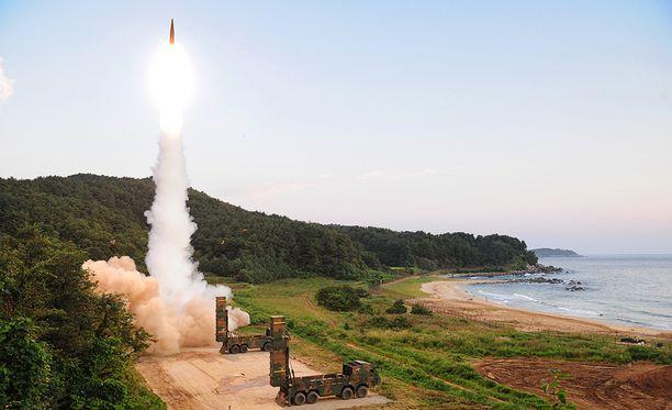 Etelä-Korea testasi ohjuksiaan heti Pohjois-Korean ydinräjäytyksen jälkeen.
