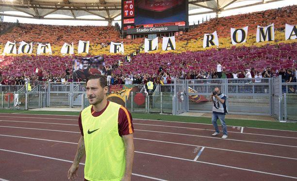 Francesco Totti pelasi tänään viimeisen pelinsä Serie A:ssa.
