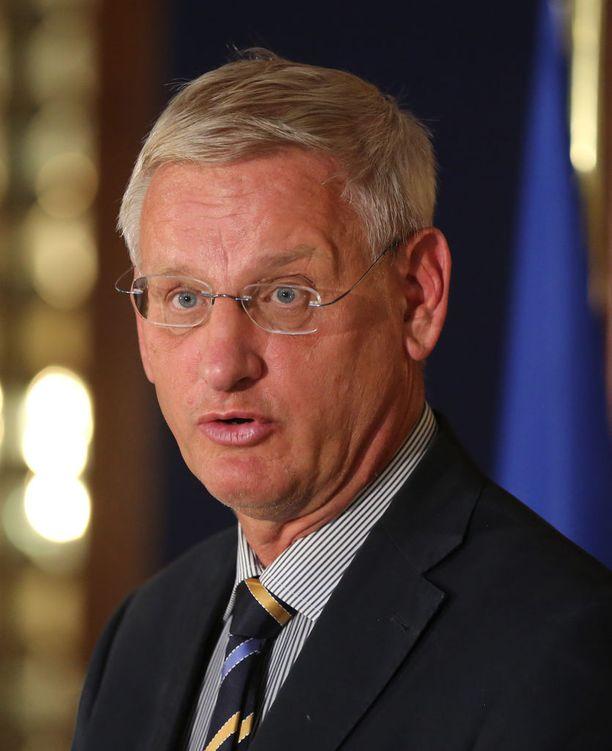 Ruotsin ex-pää- ja ulkoministeri Carl Bildt kuvattuna vuonna 2014.