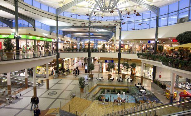 Kauppakeskus Mylly sijaitsee Raisiossa. Kuvituskuva.