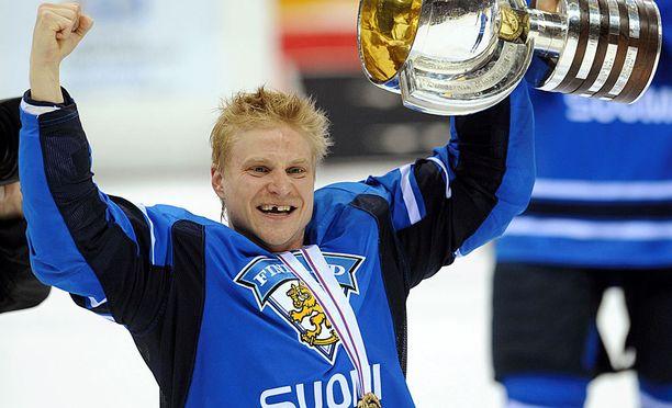 Niko Kapanen kuului Suomen maailmanmestaruusjoukkueeseen Bratislavassa keväällä 2011.