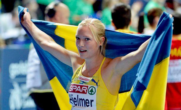 Moa Hjelmer voitti 400 metrin EM-kultaa vuonna 2012.