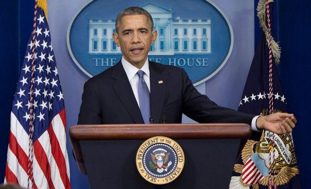 Barack Obama piti perjantaina vuoden päättävän lehdistötilaisuuden.