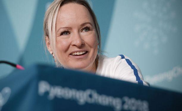 Riitta-Liisa Roponen kilpailee torstaina naisten 10 kilometrin vapaan väliaikalähtökisassa. Myös viestipaikka on hyvin lähellä.