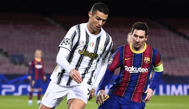 Cristiano Ronaldo ja Lionel Messi kohtasivat toisensa Mestarien liigassa viime syksynä.