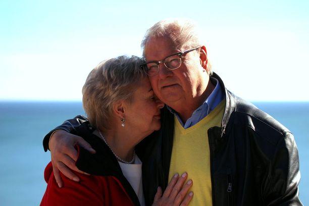 Maritta Virtanen ja Jouni Liljeroos löysivät toisensa uudelleen 40 erossa vietetyn vuoden jälkeen.