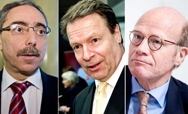 Ben Zyskowicz, Ilkka Kanerva ja Kimmo sasi puivat Venäjän ja Suomen suhteita keskiviikkoiltana. Mukana oli myös Pertti Salolainen.