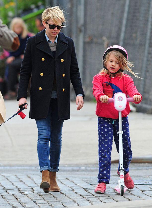 Michelle Williamsin ja edesmenneen Heath Ledgerin Matilda-tytär on hänkin jo seitsenvuotias.