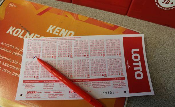 Lottoarvonnassa jaettiin lauantaina 14,5 miljoonaa euroa. Koko potti meni tällä kertaa Ruokolahden kuntaan. Kuvituskuva.