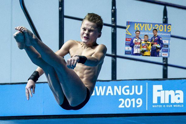 Oleksii Sereda kilpaili kolme viikkoa sitten myös uimahypyn MM-kisoissa Etelä-Koreassa.