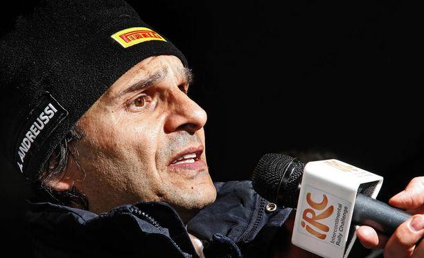 Paolo Andreucci on italialainen rallilegenda voitettuaan maan rallimestaruuden 10 kertaa. Arkistokuva.