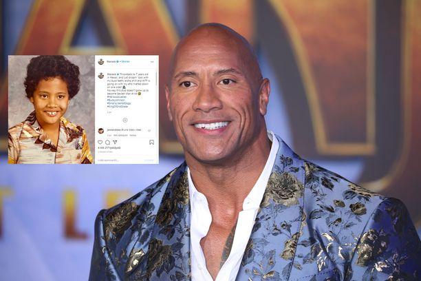 Dwayne Johnsonin fanit hämmästelevät tähden lapsuuskuvaa.