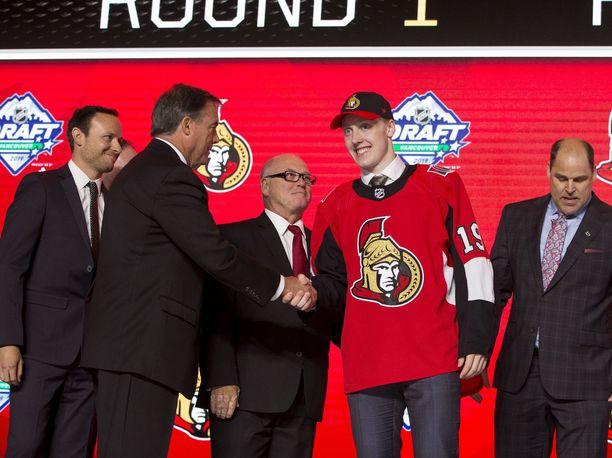 Lassi Thomson oli yhtä hymyä, kun Ottawa oli varannut suomalaisen.