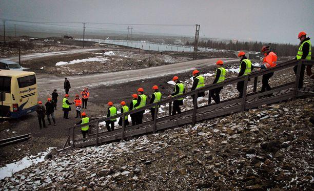 Talvivaaran kaivoksella vieraili ministereitä marraskuussa 2014.