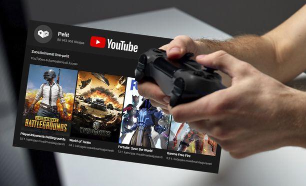 Youtuben Pelit-palvelu on noussut todella suosituksi.