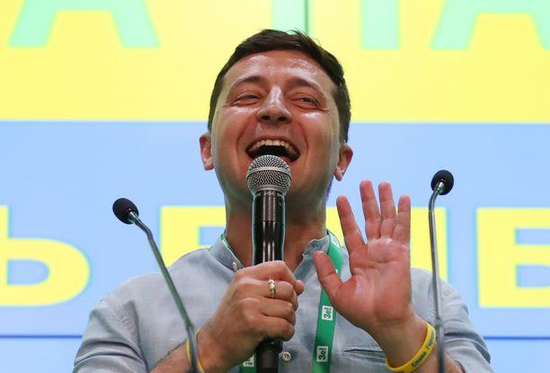 Ukrainan presidentti Volodymyr Zelenskiyn tv-sarja jäi kesken Venäjällä.