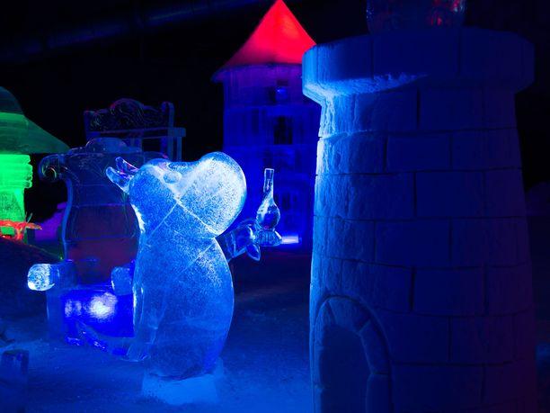 Muumi-jääveistosnäyttely on herättänyt kiinnostusta myös Japanissa.