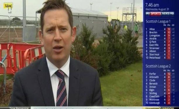 Vinny O'Connor raportoi siirroista hylätyllä rakennustyömaalla.