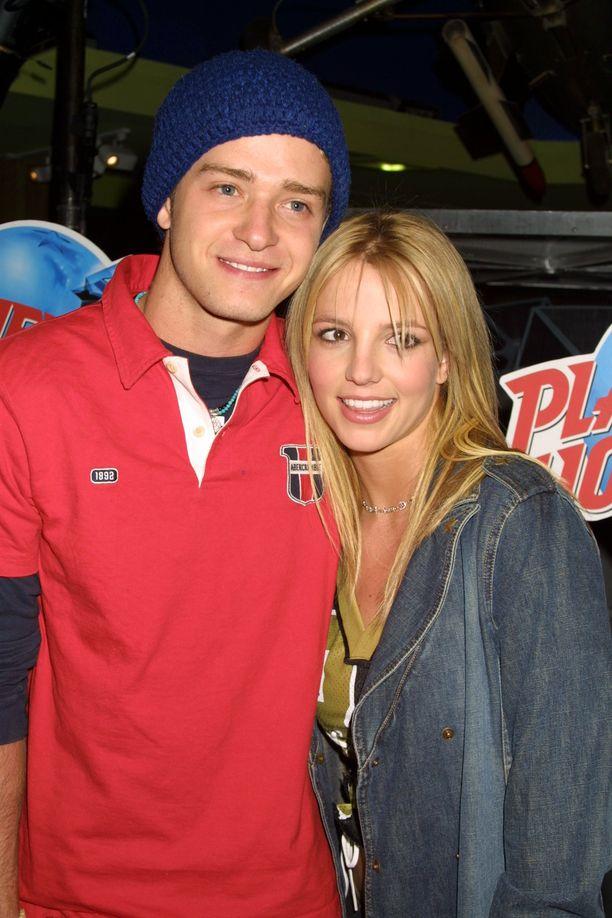 Spears ja Timberlake olivat aikanaan yksi seuratuimpia julkkispareja. Kuva vuodelta 2002.