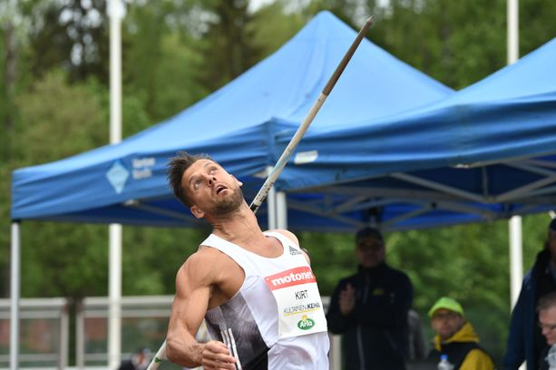 Magnus Kirt heitti lauantaina Vantaalla keihään uuden maailman kärkituloksen 89,33.
