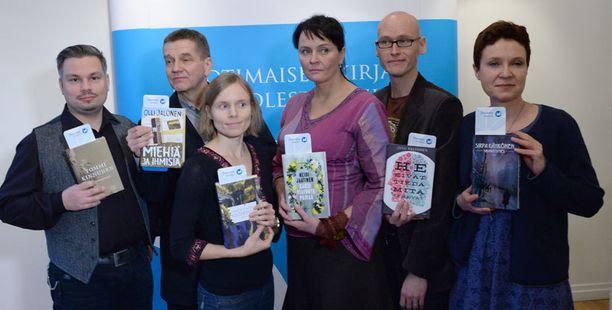 Ehdokkaat vasemmalta: Tommi Kinnunen, Olli Jalonen, Anni Kytömäki, Heidi Jaatinen, Jussi Valtonen ja Sirpa Kähkönen.