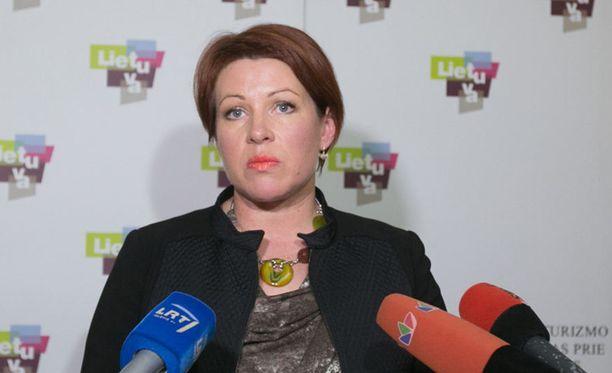 Liettuan matkailujohtaja Jurgita Kazlauskiene ilmoitti eroavansa skandaalin paljastuttua.