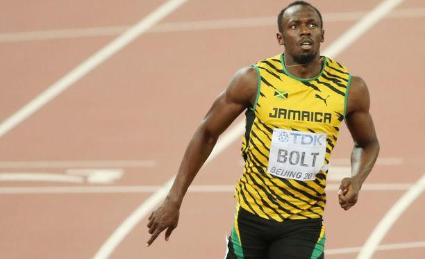 Usain Bolt otti ilon irti elämästään viikonloppuna Miamissa.