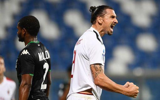Kahden maalin Zlatan Ibrahimovic johdatti AC Milanin europeleihin