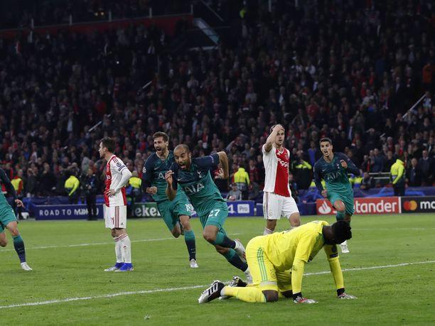 Lucas Mouran kolmas maali ottelun 96. minuutin alkaessa vei Tottenhamin Mestarien liigan finaaliin ja tuhosi Ajaxin unelman.