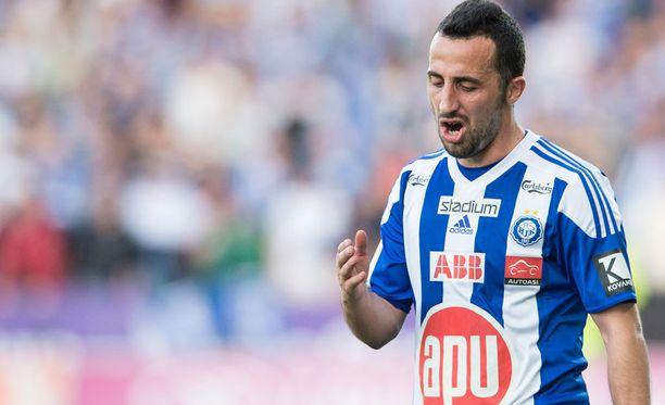 Erfan Zeneli on ehtinyt olla Krasnodaria vastaan monessa mukana.