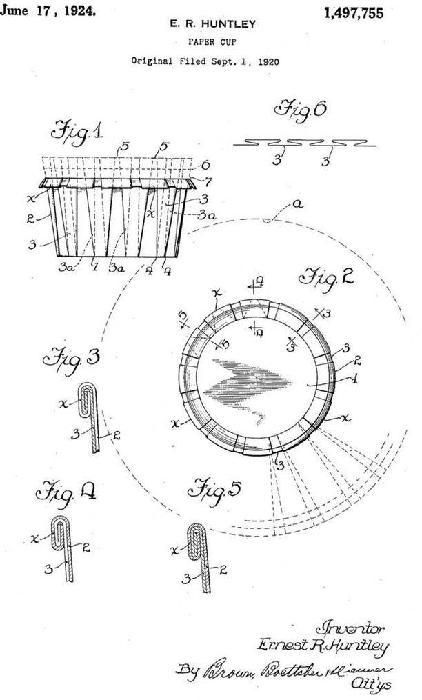 Verneri Kontto löysi Ernest R. Huntleyn paperikuppiparentin vuodelta 1920.