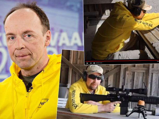 Perussuomalaisten puheenjohtaja Jussi Halla-aho on ladannut Youtubeen useamman videon, jossa hän ampuu ja testaa erilaisia ammuksia.