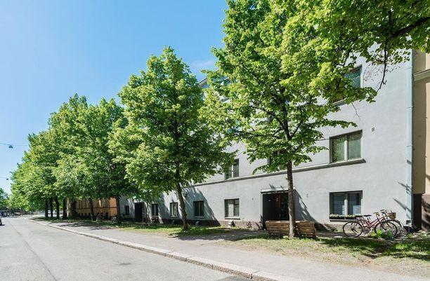 Helsingin Alppilassa sijaitsevassa yksiössä on 19,2 neliötä.