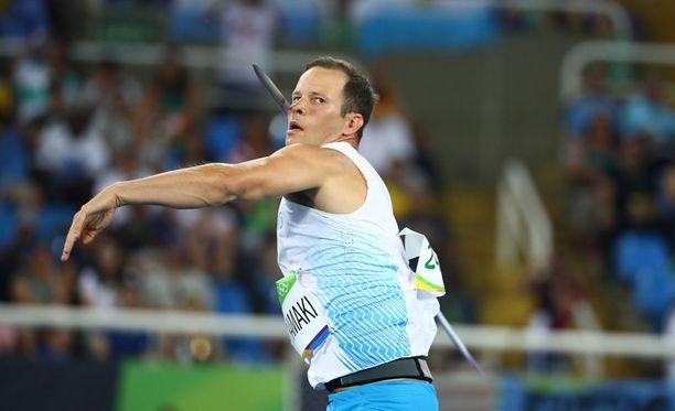 Tero Pitkämäki oli viides Rooman Timanttiliigan kisassa torstai-iltana tuloksella 83,84. Kuva viime kaudelta.