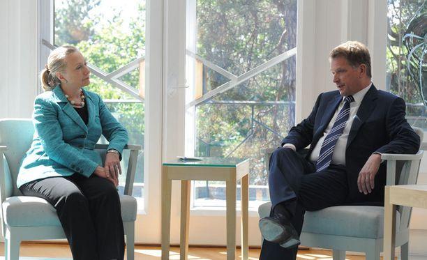 Presidentti tapasi tänään Yhdysvaltain ulkoministerin Mäntyniemessä.