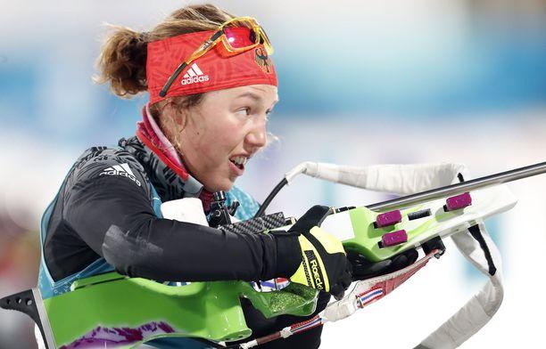 Laura Dahlmeier ei pysty tällä hetkellä harjoittelemaan terveysmurheiden vuoksi.