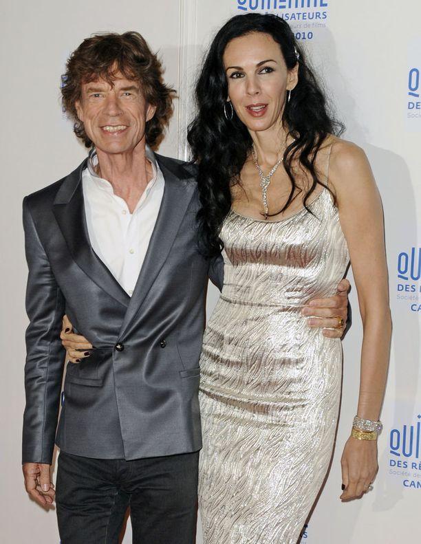 Mick Jagger ja L'Wren Scott Ranskan Cannesissa toukokuussa 2010.