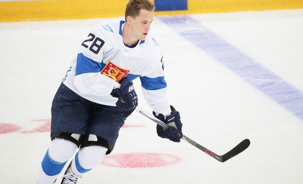 Lauri Korpikoski lähtee World Cupin Venäjä-ottelun jälkeen Calgaryyn.