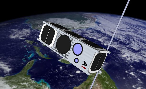 Havainnekuva satelliitista kiertoradalla.