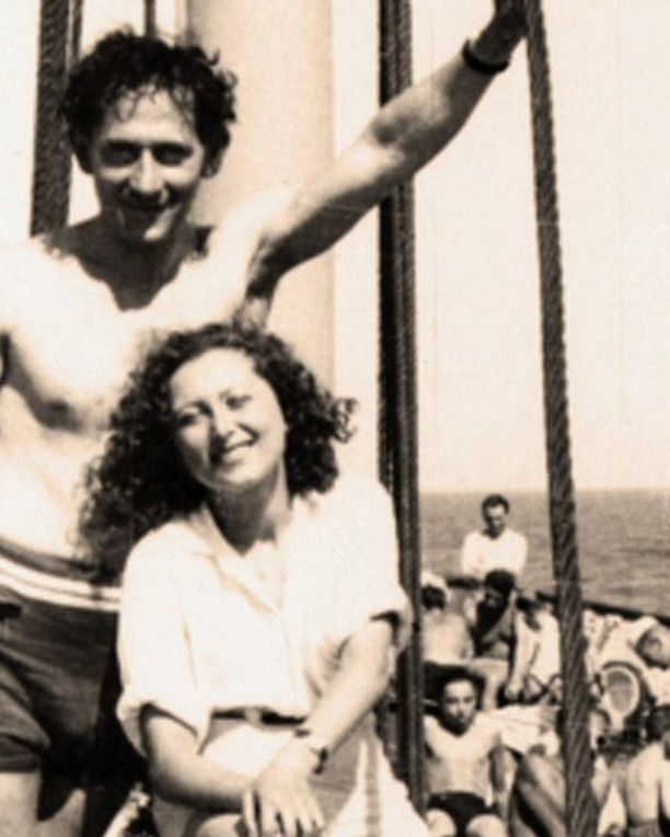 Marta poikaystävänsä Fred Loebelin kanssa. Loebel oli myös yksi matkaa organisoineista.