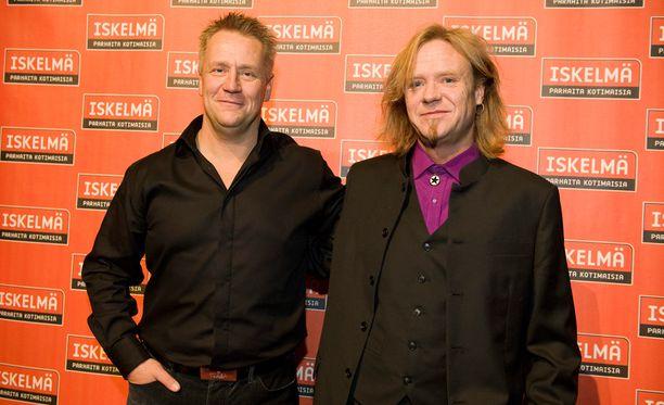 Olli Lindholm ja Jussi Hakulinen Iskelmä-gaalassa vuonna 2010.