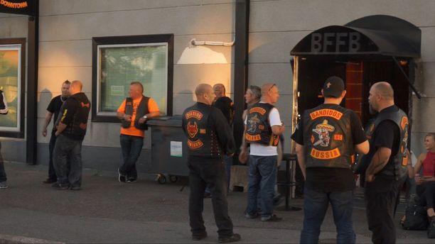 Bandidos-jengin vuosijuhlat Kyläsaaressa Helsingissä viime elokuussa.